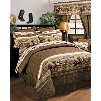 Wild Horses Comforter Set  Queen. Amazon com  Wild Horses Comforter Set  Queen  Home   Kitchen