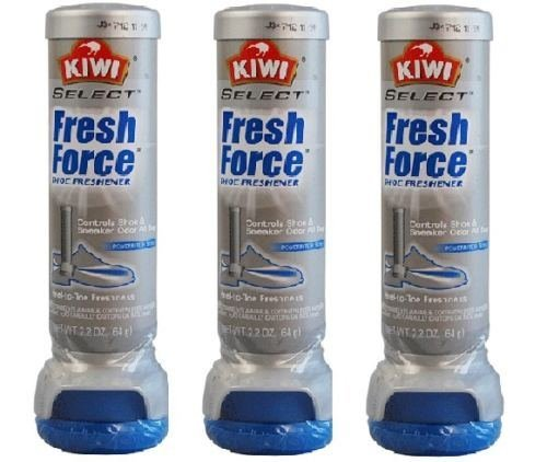 (3x) Kiwi Fresh Force Sneaker Shoe Deodorizer Odor Protection Scent Freshner