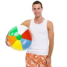 Sol Coastal SBEA-103 Jumbo 6-Color Inflatable Beach Ball