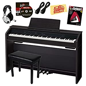 casio privia px 850 digital piano bundle with bench pedals adapter headphones. Black Bedroom Furniture Sets. Home Design Ideas