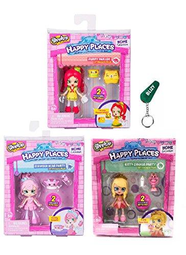 Happy Places Shopkins Season 2 Doll Set Of 3 - Tiara