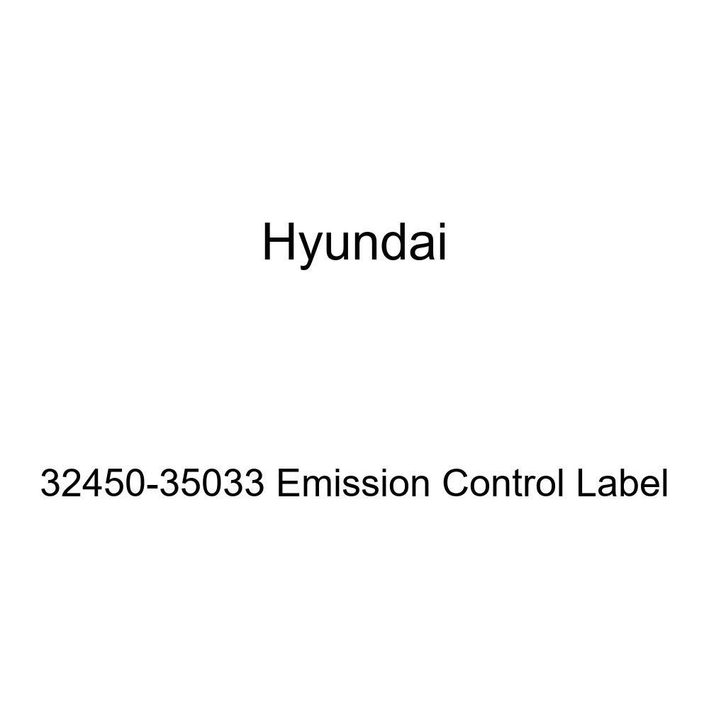 Genuine Hyundai 32450-35033 Emission Control Label