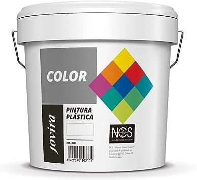 PINTURA MATE CUBRIENTE | 24 COLORES |, Pintura interior-exterior con excelente poder cubriente (20 KG, GRIS OTOÑO)