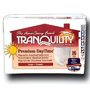 PU2106PK - Tranquility Premium DayTime Adult Disposable Absorbent Underwear Large 44 - 54