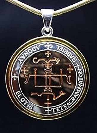 925 Silber Anhänger Amulett Erzengel-Siegel Gabriel