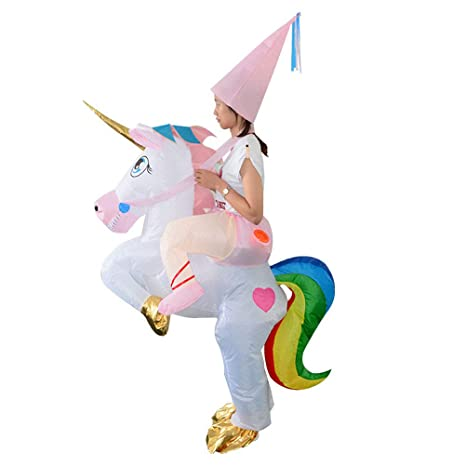 Amosfun Disfraz de Unicornio Inflables para Fiesta Carnaval ...