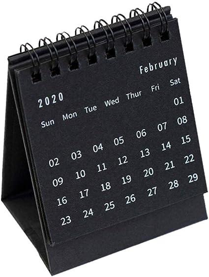 Calendrier De Bureau 2021 STOBOK Calendrier de bureau 2020 2021 Calendrier de travail annuel