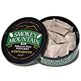 Smokey Mountain Pouches - Wintergreen - 1-Can - Nicotine-Free and Tobacco-Free Herbal Snuff - Great Tasting & Refreshing Chewing Tobacco Alternative