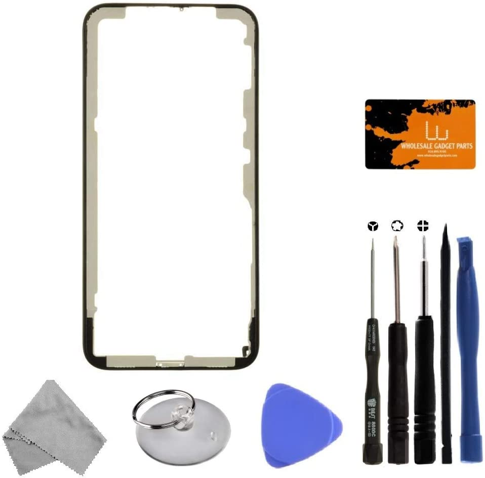 Frame Black for Apple iPhone X with Tool Kit with Adhesive