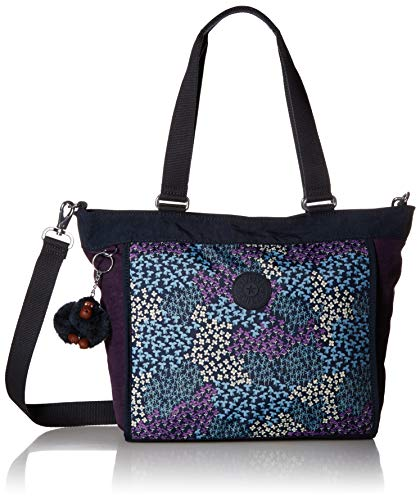 (Kipling New Shopper Small Printed Tote, Dotted Bouquet Combo)