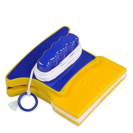 Limpiador de Ventanas magnético Cuadrado Limpiador de Vidrio de Doble Cara con 2 limpiadores adicionales de