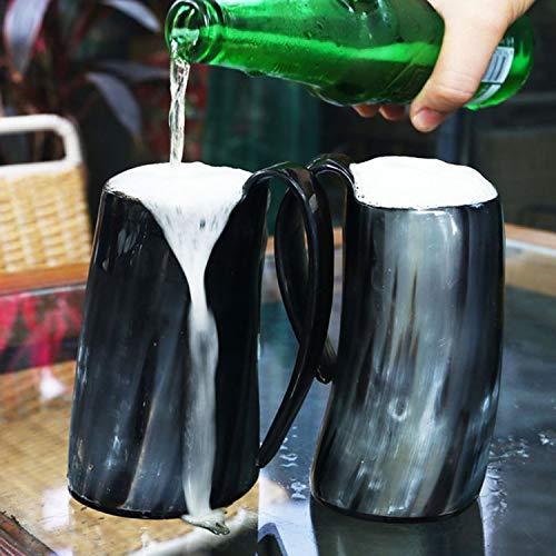 Viking Drinking Mug-Natural Ox Horn Drinking Mugs Beer Cups Viking Mugs by HORATII (Image #6)