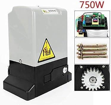 HaroldDol - Accionamiento para puertas correderas (750 W, eléctrico, 2000 kg, con 2 mandos a distancia y barra de 6 m): Amazon.es: Bricolaje y herramientas
