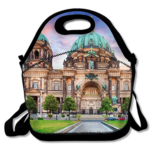Berlin Cathedral Germany Lunch Bag for Women and Kids,Reusable Soft Lunch Tote for Work and School