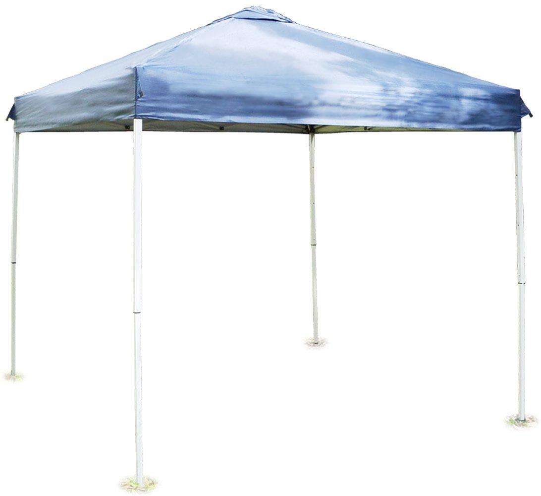 バッとひろがるワンタッチテント(クイックタープ) 2/2.5/3m ブルー/グリーン/ピンク ベンチレーション UVカット 高さ調節可 B008PPFRLE Lサイズ(3m)|ブルー ブルー Lサイズ(3m)
