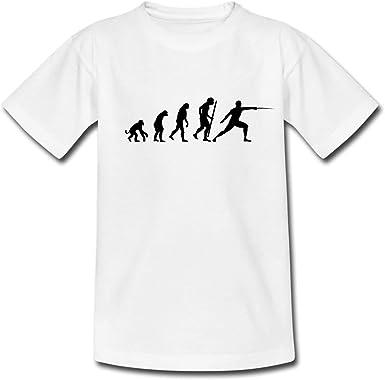 Spreadshirt Escrime Évolution du Singe À L'Escrimeur T Shirt Ado