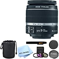 Canon EF-S 18-55mm f/3.5-5.6 IS II Lens Bundle- International Model