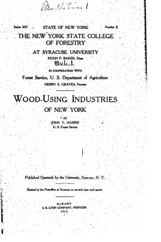 Download Wood-Using Industries of New York pdf