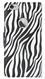 zebra print phone accessories - Reiko iPhone 6S Plus/ iPhone 6 Plus 5.5 inches 3 in 1 Animal Zebra Print Wallet Case - Retail Packaging - Black
