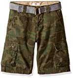 Levi's Boys' Little Cargo Shorts, Olive Forest Night Camo, 4T
