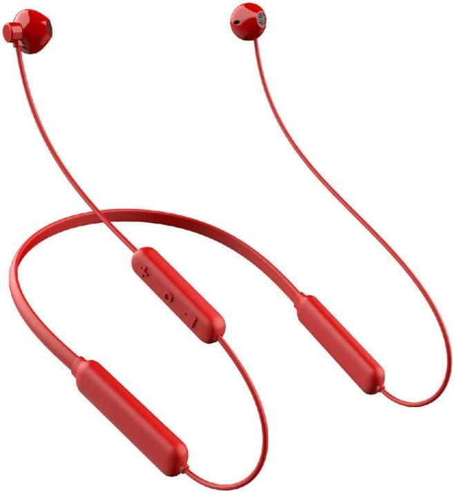 chachacha Sport Wireless Bluetooth Headset Hanging Neck Run 5.0 Double Ear Stereo Waterproof HeadphonesRed