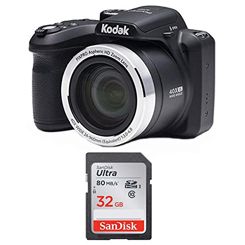 Kodak AZ401BK Point & Shoot Digital Camera with 40X zoom, Optical Image Stabilization, Flash, 3
