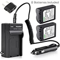 Kastar Battery (2-Pack) and Charger Kit for CGR-S006, CGR-S006A1B, CGA-S006, DMW-BMA7 work with Panasonic Lumix DMC-FZ18, DMC-FZ28, DMC-FZ30, DMC-FZ35, DMC-FZ38, DMC-FZ50, DMC-FZ7, DMC-FZ8 Cameras