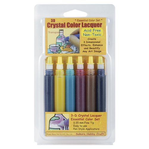 (SAKURA HOBBY CRAFT 3D Crystal Lacquer Color Pens,)