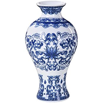 Amazon Lianle Retro Blue And White Porcelain Home Decorative