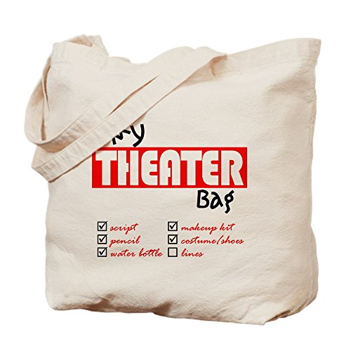 CafePress My Theater Natural Canvas Tote Bag, Cloth Shopping Bag