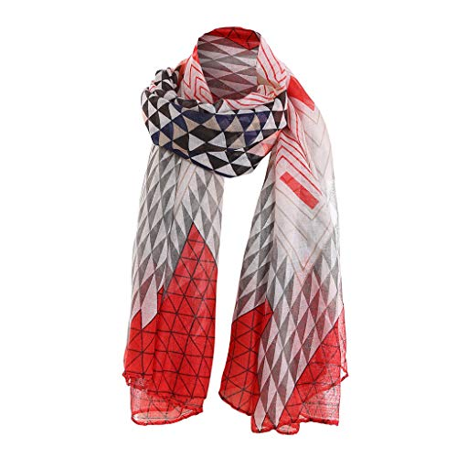 (HYIRI Neck Band Women Fashion Beautiful Embroidered Cotton Linen Floral Wrap Shawls Scarves)