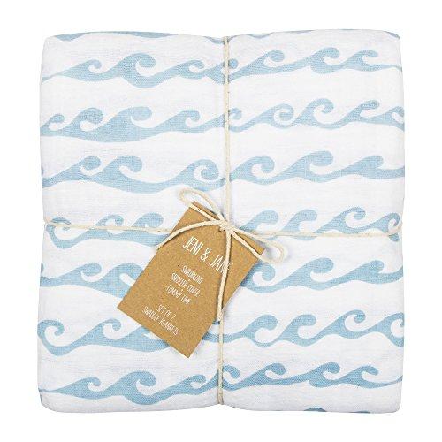 Jeni and Jane Montauk Baby Swaddle Blankets Pack Of 2