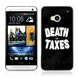 Designer Depo Hard Protection Case for HTC One M7 / Death Taxes