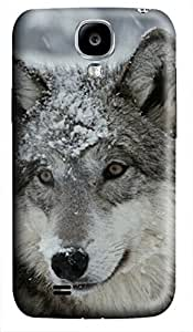 iCustomonline Gray Wolf With A Dust Of Snow Case for Samsung Galaxy S4 I9500 Hard 3D