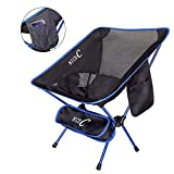 #9: NiceC Ultralight Chair Portable Camping Chair Folding 2 Storage Bags Carry Bag Compact & Heavy Duty Outdoor, Camping, BBQ,Backpacking, Beach, Travel, Picnic, Festival