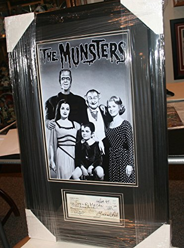 YVONNE De CARLO- SIGNED PERSONAL CHECK WITH 11X17 MUNSTERS PHOTO FRAMED