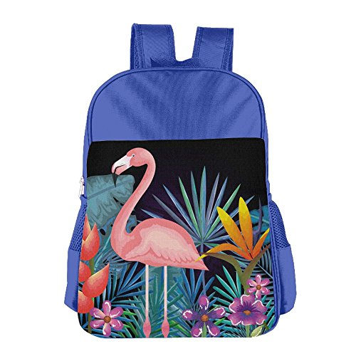 Kids School Backpacks Tropical And Exotic Garden With Flamingo Shoulders Bags Schoolbag For Teens Boys Girls Students