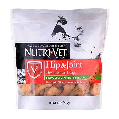 Nutri-Vet Hip & Joint Biscuits for Dogs, Peanut Butter Flavor (6 lb) (13662-1)