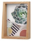 Umbra Edge, Wooden 5X7 Picture Frame and Photo Display for Desktop or Wall, Natural, 5 by 7-Inch,