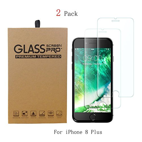 2 Pack of Galaxy S9 Plus Tempered Glass Screen Protector, Case Friendly Edge to Edge Saver Full Coverage Protective Cover Clear Film for Samsung Phone S9+ (for S 9+, not for S 9) (C8)