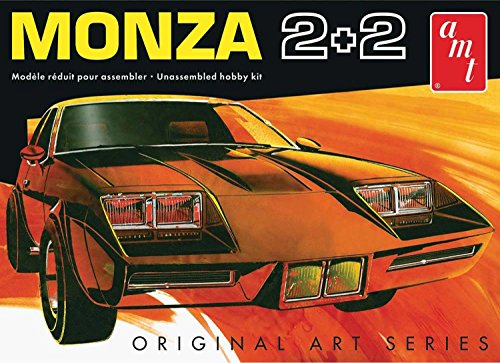 AMT 1019 1977 Chevy Monza 2+2 2'n1 1:25 Scale Plastic Model Kit - Requires (Monza Two Piece)