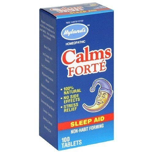 Hyland's Calms Forte Sleep Aid - 100 Tablets, 8 Pack (image may vary)