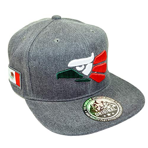 Mexico Eagle Embroidery Hat Adjustable Mexican Flag Baseball Cap (Dark Gray) ()