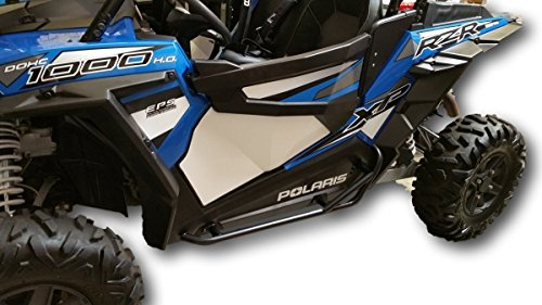 Polaris RZR 1000, 900, 900S, Turbo - Black Side Steps Nerf Bars