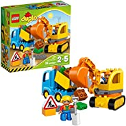 LEGO Duplo Town Truck & Tracked Excavator 10812  Dump Truck and Excavator Kids Construction Toy with Duplo