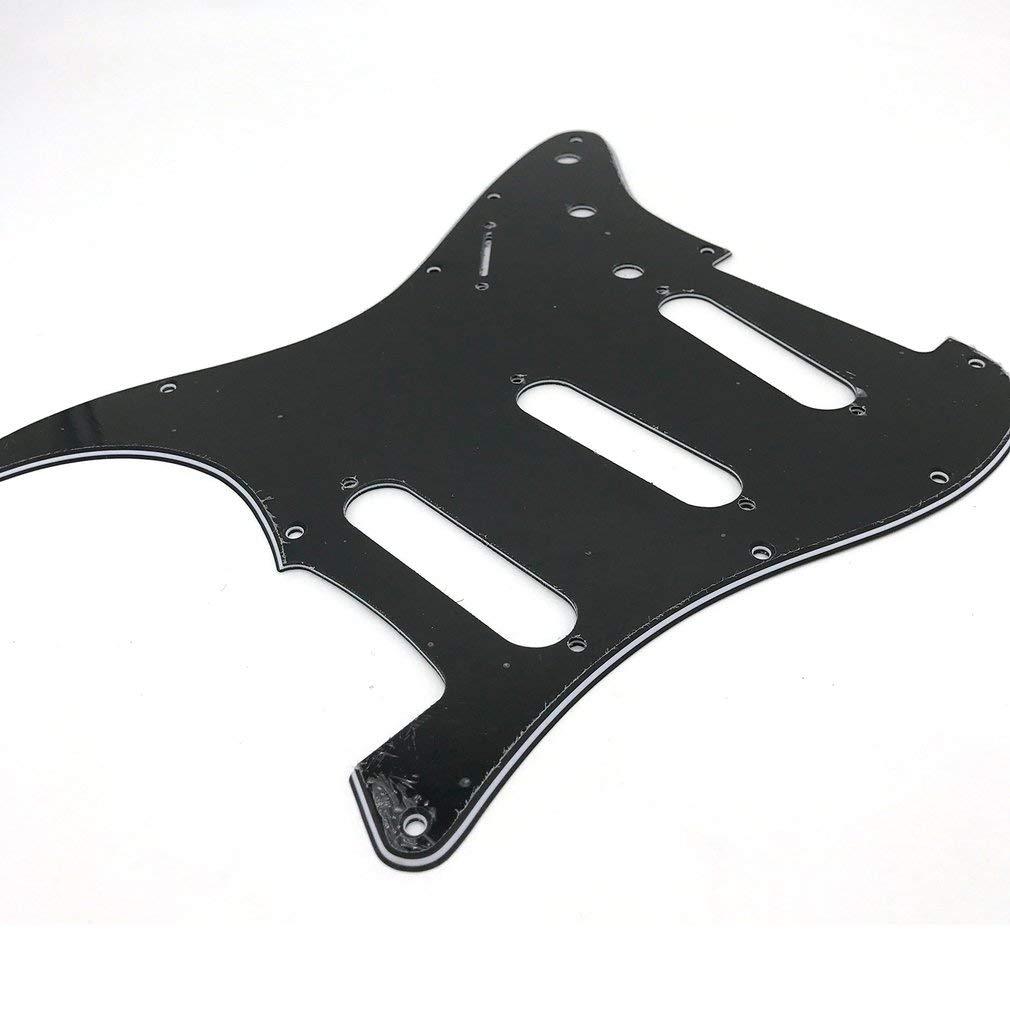 Golpeador de Guitarra el/éctrica para Fender Strat Stratocaster KinshopS ST Color Negro