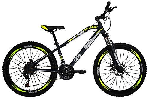 Bicicleta de Montaña Modelo'INXSS' con Componentes Shimano y Suspensión Delantera, Rodada 26 Shimano 21 Velocidades (Amarillo)