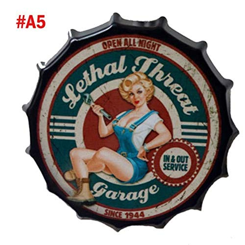 - Hylotele Retro Tin Metal Beer Bottle Caps Sign Poster Plaque Bar Pub Club Wall Home Decoration Tool