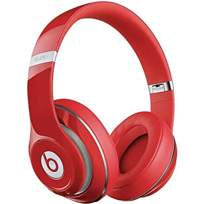 Beats by Dr. Dre Studio Over-Ear Adaptive Noise Cancelling Headphones with Remote Talk Control (Second Generation, Red)
