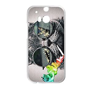 Custom Galaxy Hipster Cat Diseño Rubber Protection Case Skin For HTC One M8